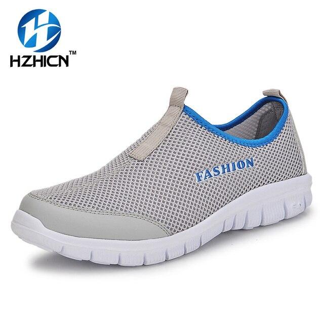 Homme Chaussures D'été Casual Chaussures Respirant Réseau chaussures Hommes Slip On Appartements Chaussures Hommes mocassins LJGoc7F