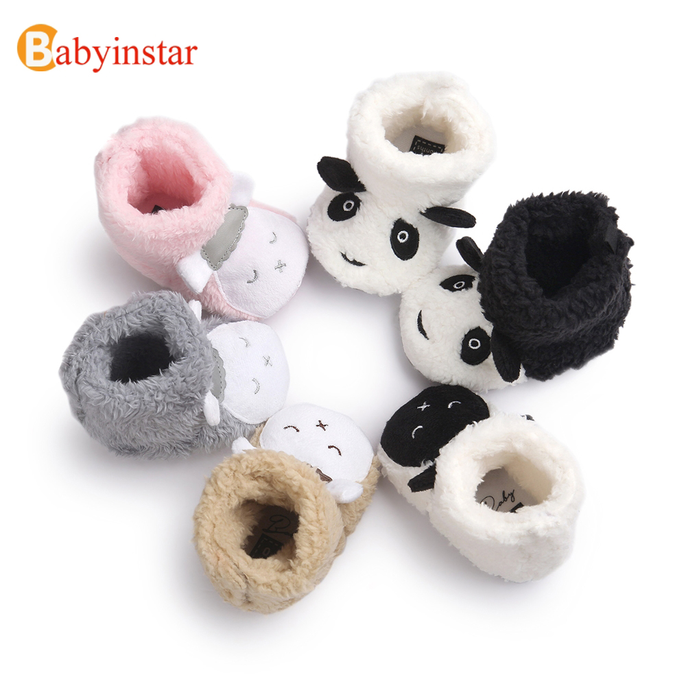 New Arrival Baby Shoes Cute Cartoon Good Quality Toddler Footwear Boys Girls Shoes Winter Warm 0-1 Yrs Baby First Walkers