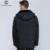 City class 2015 nova jaqueta de inverno quente grossa para baixo ocasional fique Collar Removível Falso Chapéu de Pele do Inverno Casacos Frete Grátis 6581