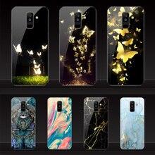 Geruide Phone color printing samsung A6 plus 2018 case Tempered Glass Samsung Galaxy A6 2018 Dual SIM SM A600 A600F Cover case цена и фото