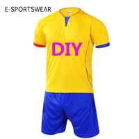 New Professional Customize Adult Kids Breathable Soccer Set Soccer Jerseys Uniforms Children Football Kit Shirt Tracksuit