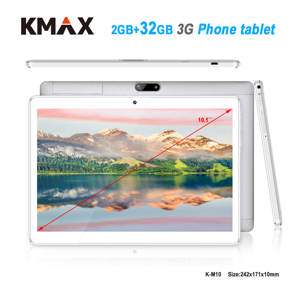 KMAX 10 pouce 3g téléphone appel Tablet pc 2 gb 32 gb RAM Quad Core Android 6.0 Double Caméras wifi Comprimés 10.1 pouce windows pad cas 8