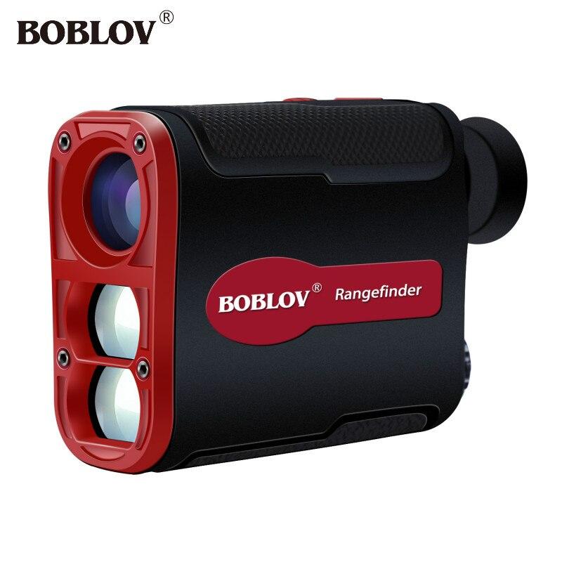 BOBLOV 700 Yards 6X Magnification Range Finder Hunting Golf Rangefinder Black Digital Display Jolt Function Pin Lock