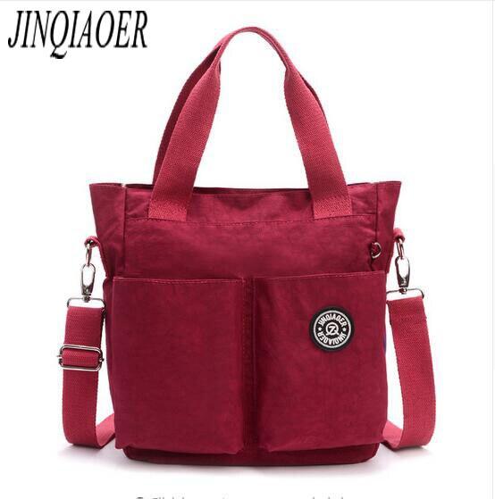 JINQIAOER 2017 Original Women Nylon Waterproof Handbag Shoulder Bag Multifunction Zipper Tote Bag Messenger Bag 6371