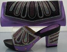 Frauen Pumpen Italienischen Schuh-Und Taschensatz Afrikanische Hochzeit Schuh Und passende Tasche Sets Frauen Schuh Und Tasche Für Partei ME2213