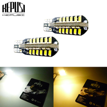 2pcs/lot t10 led canbus white light T10 W5W 48led 3014 no Error 48smd Car Light Source Indicator Parking Lamp