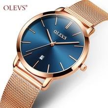 OLEVS Gold Women Watch Top Brand quartz Ladies watches Business Luxury Watch Casual Full steel Calendar Wristwatches reloj mujer