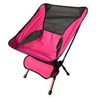 Cadeira compacta dobrável ultraleve para acampamento  cadeira dobrável