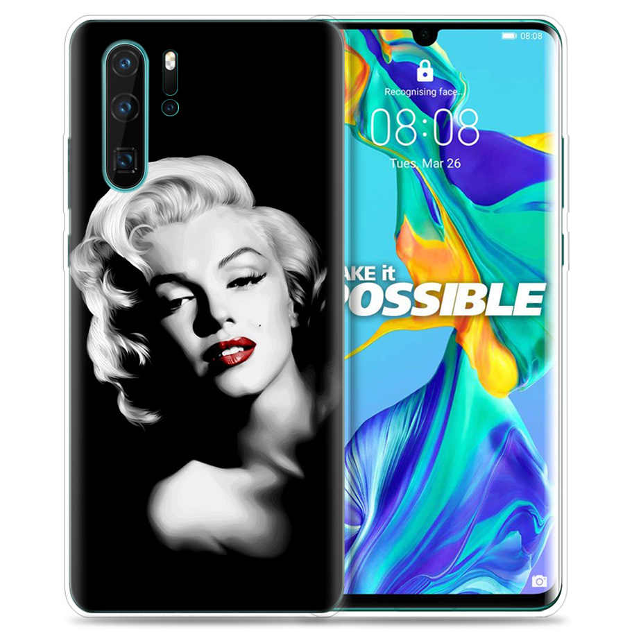 Case for Huawei P30 P20 P10 P9 Mate 10 20 Lite Pro Mobile Cell Phone Bag P Smart Z 2019 Plus Marilyn Monroe Pin Up Girl P8 P30Pr