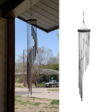 18 Metal Tubes Wind Chimes Home Window Wall Windbell Outdoor Yard Garden Hanging Decoration Handmade DIY Large