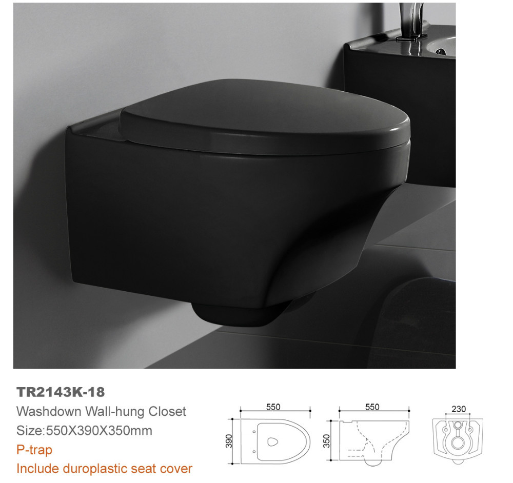 one piece toilet wall hung mounted ceramic bathroom toilet wc UF ...