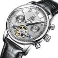Suiza binger relojes hombres marca de lujo de múltiples funciones de tourbillon mecánica a prueba de agua relojes de pulsera b-8603m-2