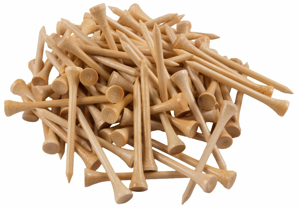 GOG Approved Professional Bamboo Golf Tees 2-3/4 Inch - Almost Unbreakable 7x Stronger than Wood Tees 100 Bulk bag 70mm