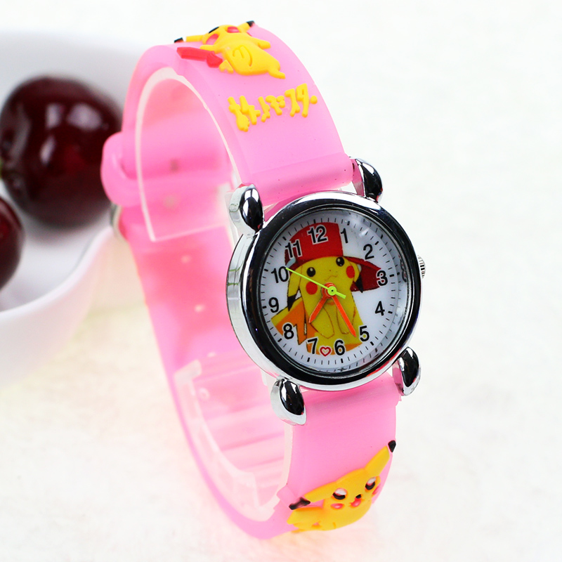 JOYROX Cartoon Pattern Children Sports Watch 2018 Hot Cartoon Rubber Strap Quartz Wristwatch Fashion Girls Boys Kids Clock