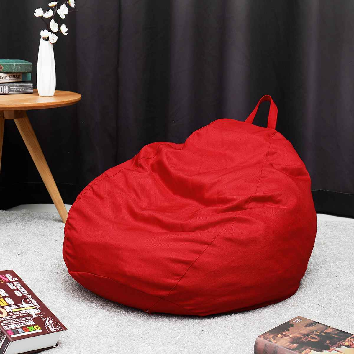 13 colors Lazy BeanBag Sofas Cover Chairs without Filler Linen Cloth Lounger Seat Bean Bag Pouf Puff Couch Tatami Living Room13 colors Lazy BeanBag Sofas Cover Chairs without Filler Linen Cloth Lounger Seat Bean Bag Pouf Puff Couch Tatami Living Room