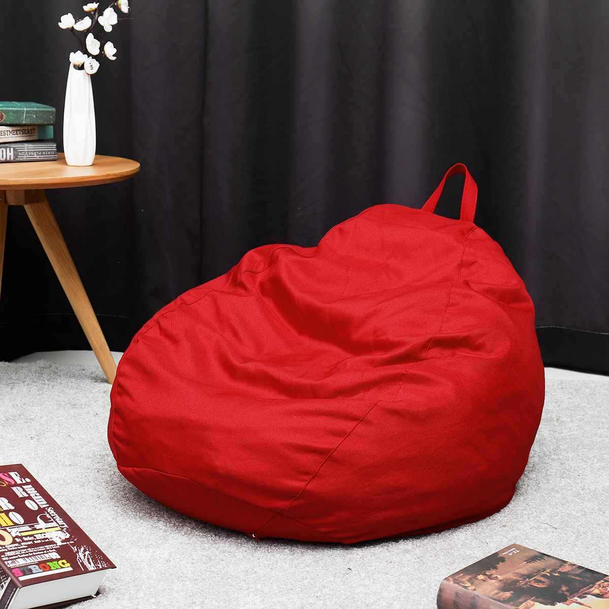 13 цветов уютное кресло-мешок покрывало на диван стулья без наполнителя льняная ткань шезлонг кресло мешок пуф диван татами гостиная