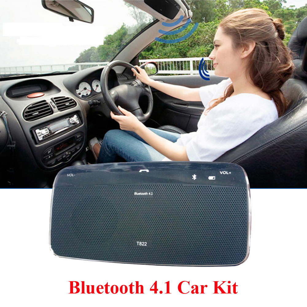 Automobile Bluetooth In-car Speakerphone Dual Phones Connecting Hands Free Bluetooth Car Kit Speaker for Iphone Smartphones