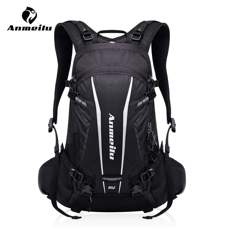 ANMEILU 20L Motorcycle Mountain Bike Backpack Waterproof Sports Bicycle Bag Riding Hiking Climbing Bag Rucksack With Rain Cover anmeilu waterproof unisex travel bag 20l outdoor bicycle bike bags mountain camping climbing rucksack outdoor hiking hunting bag