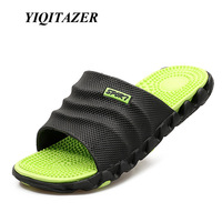 YIQITAZER 2017 New Summer Men S Flip Flops High Quality Soft Massage Beach Slippers Fashion Shoes