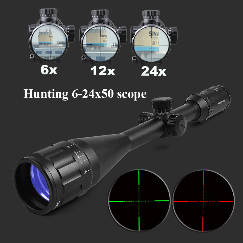 ZEISS CONQUEST 6-24X50 Optics Rifle Scope Etched Glass Tactical Riflescope Hunting Scopes Sniper Scope For Airsoft Air Guns