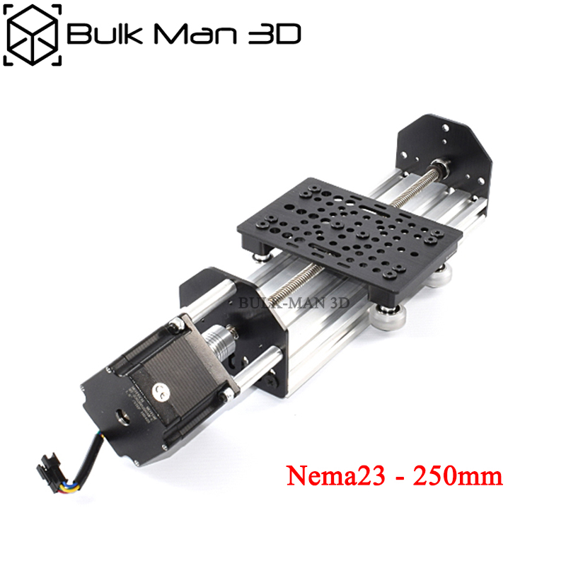 Openbuilds NEMA23 ACME Lead Screw Linear Actuator with Nema23 Stepper Motor,DIY CNC Sliding Table Lead Screw Travel 250mm