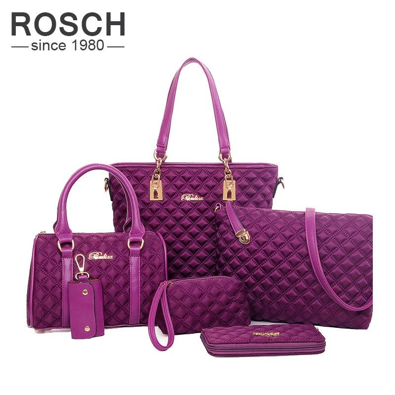 ФОТО European and American Style Women Casual Messenger Bags 6 Pieces Set Composite Women Ladies' Crossbody Shoulder Bag