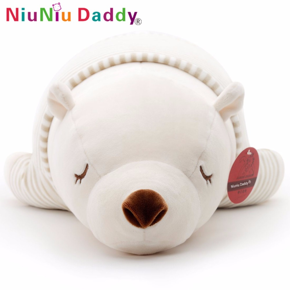 Niuniu Daddy 75cm/30'' PaPa Bear Super Soft Bear Plush Animal Toy Stuffed Baby Doll Toys Baby Product Toy Pillow For Children little bear animal series many chew toy