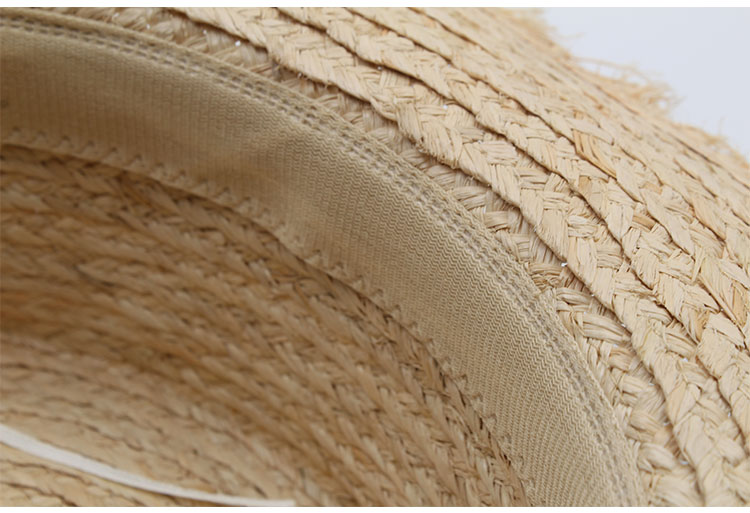40c2ec5e3f6d7 ... hat womens summer adult solid casual straw sun beach hat summer hats  for women boater raffia ...