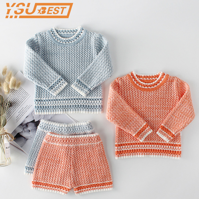 Baby Girls Clothing Sets Baby Knitted Clothes Infant Newborn Baby Girls Cardigan Boys Sweater Cotton Baby Clothing Set For Girls