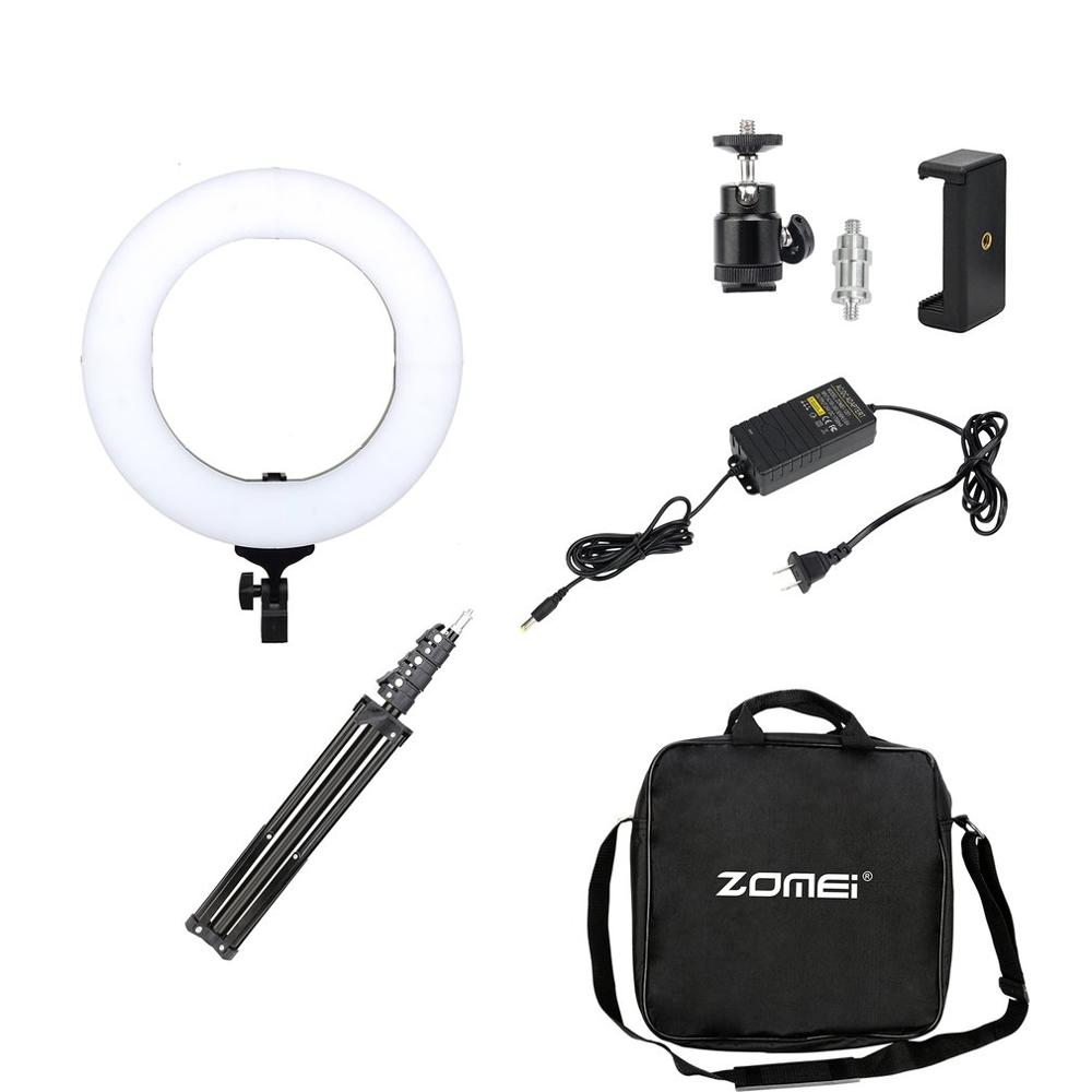 Photographic Light Double Way Photo Studio Lamp ZOMEI 14 Inch Dimmable LED Ring Light With 50CM Foldable Tripod Stand AU PlugPhotographic Light Double Way Photo Studio Lamp ZOMEI 14 Inch Dimmable LED Ring Light With 50CM Foldable Tripod Stand AU Plug