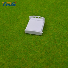 Teraysun Wholesale 20pcs  scale 75 Architectural Model Making Scale Model Bed Miniature Plastic Mini Model Bed цена