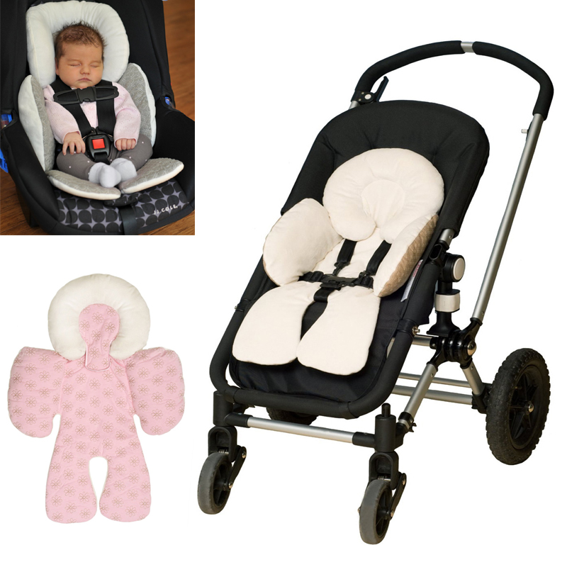 Seat Stroller Car Baby Cover Cushion Pram Pushchair Mat Liner Pad Head Support