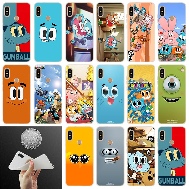 The <font><b>Amazing</b></font> World of Gumball Soft Case Cover For <font><b>Xiaomi</b></font> Redmi Note 8 7 6 5 Pro 8a 7 6pro 6a s2 5a 4a 5plus y3 Coque Etui Cases image