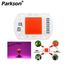 COB светодиодный светильник для выращивания, чип, полный спектр, нет необходимости в драйвере переменного тока, 220 В, 20 Вт, 30 Вт, 50 Вт, травяной светодиодный светильник для растений, светильник, рост рассады в помещении