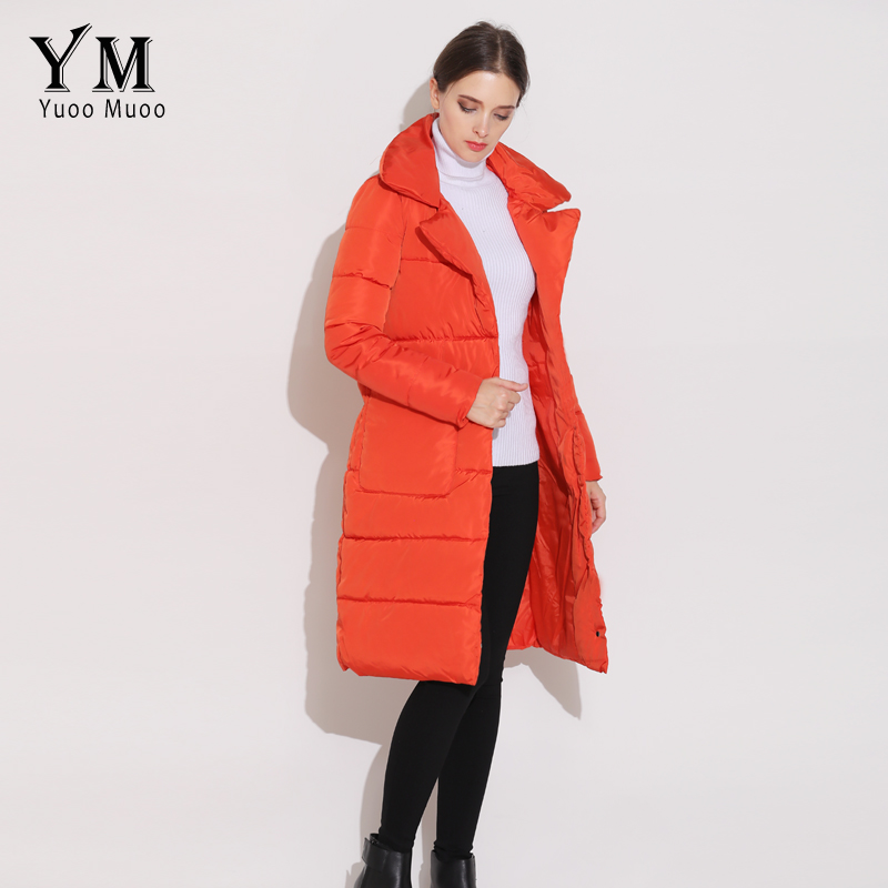 1778d7222b93 YuooMuoo New Autumn Winter Women Coat Casual Turn Down Collar Women ...