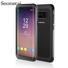 For Samsung S9 Plus Life Waterproof Case for Samsung Galaxy S8 Plus Shockproof Clear Bumper Cases with Built-in Screen Protector