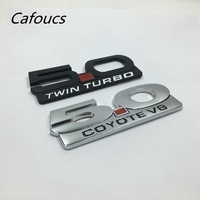 Metal 5.0 Coyote V8 Twin Turbo Tronco Lado Fender Emblema Emblema Autocolante Carta Para Ford Mustang GT|letter stickers|emblem stickerstickers stickers -