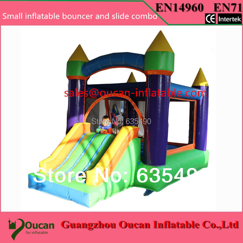 4x3x2 5m PVCtarpaulin inflatable font b bouncer b font and slide combo for kids child inflatable