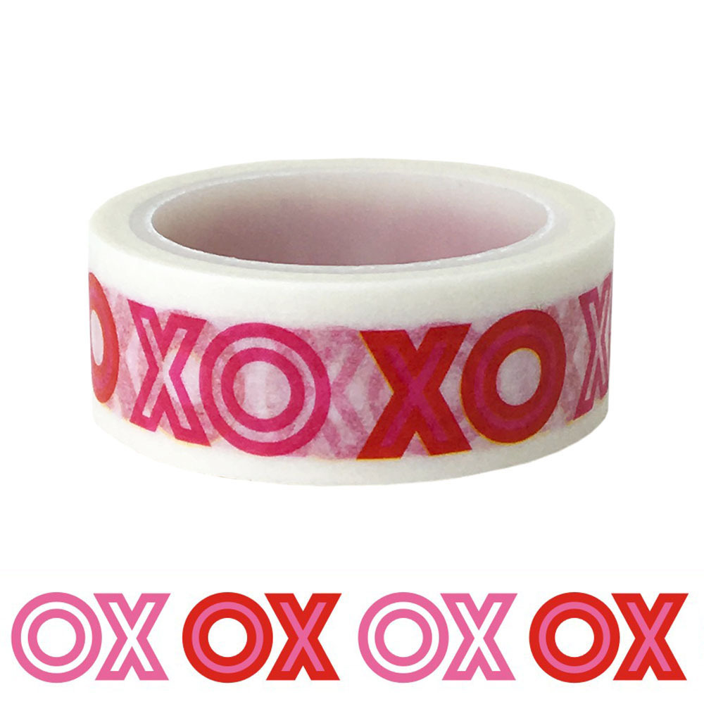 20pcs set Wholesale OXOX Washi Tape Circle Fork Valentine 39 s Day Weird DIY Decorative Gift Washi Tape in Office Adhesive Tape from Office amp School Supplies