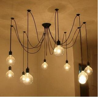American Retro Industrial Wind Pendant Light Restaurant Modern Clothing Store loft Spider Long Day Girl Scattered lamp TA101310 modern american personality lamp spider extendable light pendant scalable lamp home office bar decoration light lamp