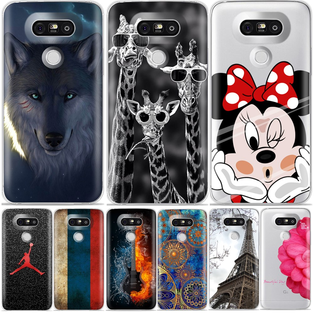 For LG G5 Case Cute Cartoon Luxury soft silicone back cover case for LG G 5 cases and covers for lg g5 fundas 5.3 coque