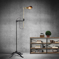 Vintage Art style copper floor lamps fashion floor lamp for living room / bedroom / foyer+EMS