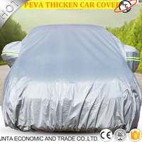 Universal full car covers snow ice dust sun uv shade cover light silver color Auto car outdoor protector cover