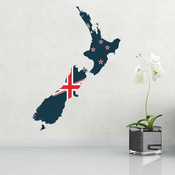 Bandera Mapa de Nueva Zelanda pared vinilo pegatina de Casa decoración de la pared de la etiqueta engomada de papel pintado PVC Decoración Elegante Piano teclas negro y blanco moderno reloj de pared notas de música ola redonda música teclado Reloj de pared música amante pianista regalo