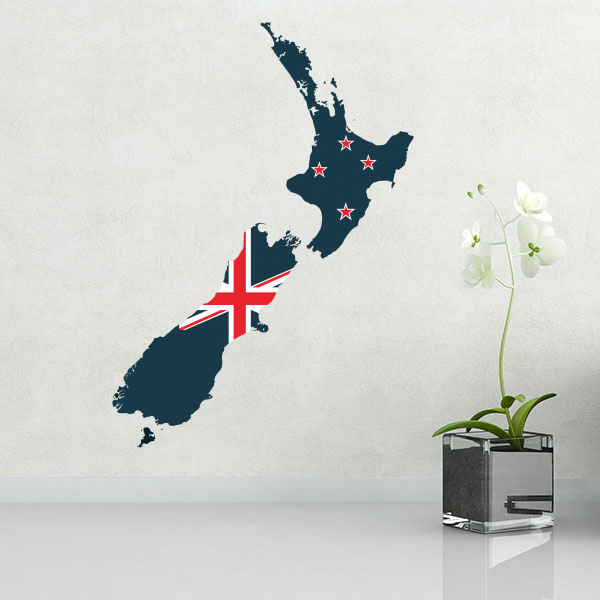 Flag map of New Zealand wall vinyl sticker custom made home decoration wall sticker wedding decoration PVC wallpaper