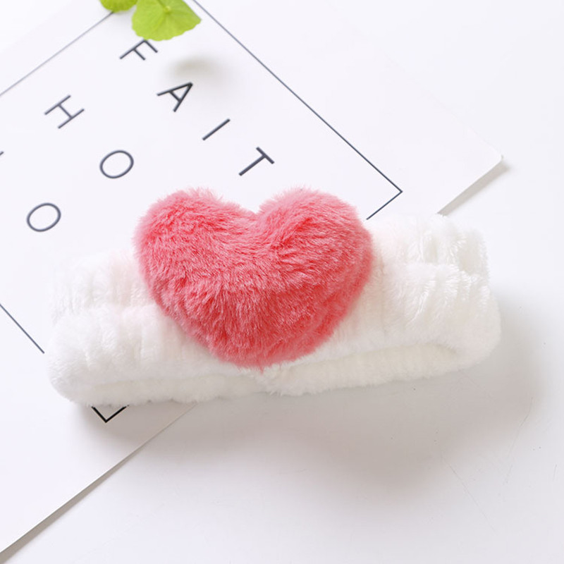 1PC Cute Heart Creative Bath Headband Makeup Band Towel Wash Apply Bathroom Accessories Hair Band Gifts Bathroom Supplie 3C