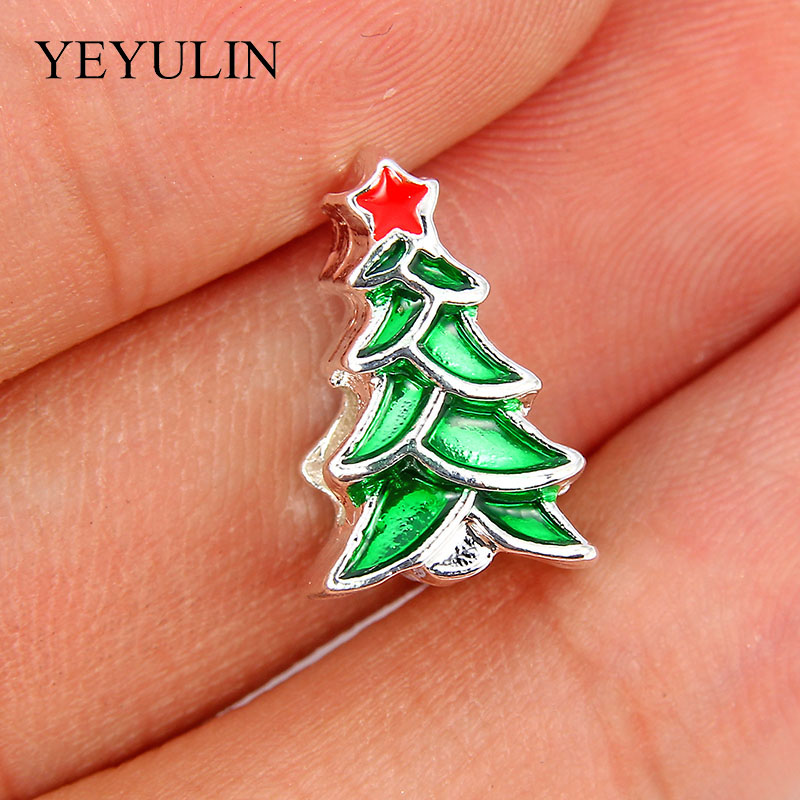 Disciplined 10pcs Silver Red Star Green Christmas Tree Loose Beads Jewelry Making Necklace Bracelets Accessory Fit Women Men Christmas Gift Beads & Jewelry Making Beads