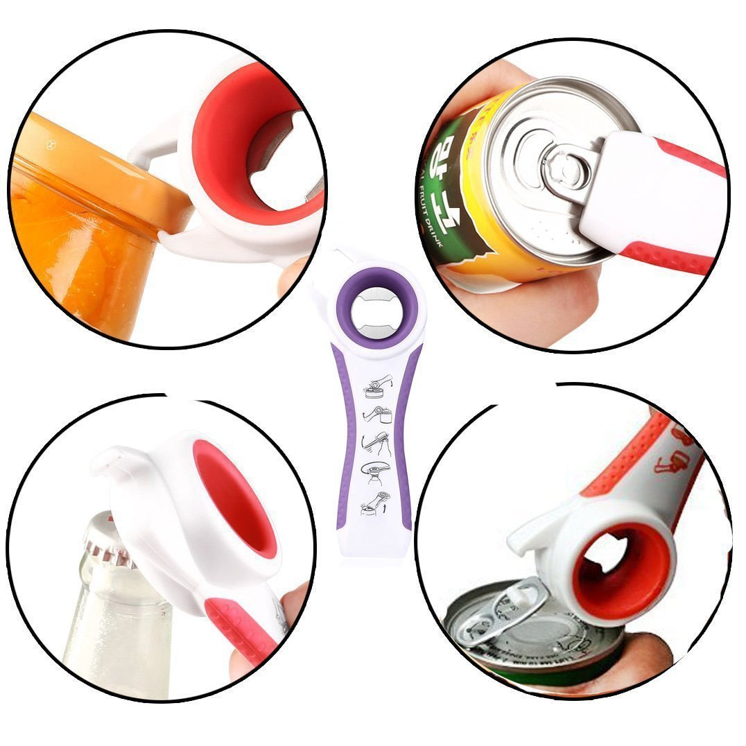 5 in 1 creative multifunction stainless steel can opener and beer bottle opener