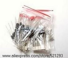 1N4148 1N4007 1N5819 1N5399 1N5408 1N5822 FR107 FR207 8values= Electronic Components Package Diode Assorted Kit 200PCS