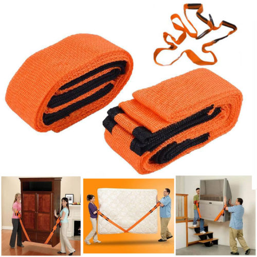 2PCS Carry Tools Team Heavy Furniture Lifting Moving Easier Wrist Belt Straps Elastic Bands